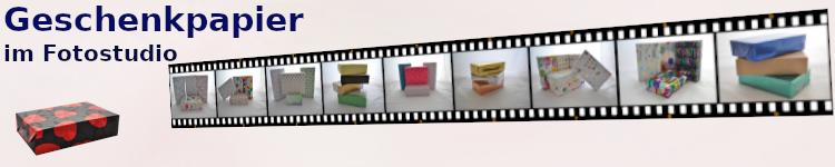 Geschenkpapier-Rollen, verpackte Kartons