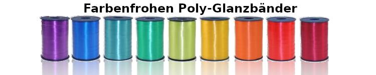 Farbenfrohe Poly-Glanzbänder